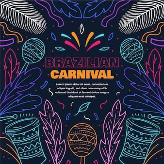 Bunter brasilianischer karneval des flachen entwurfs