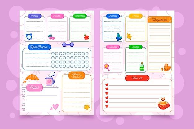 Bunter bullet journal planer