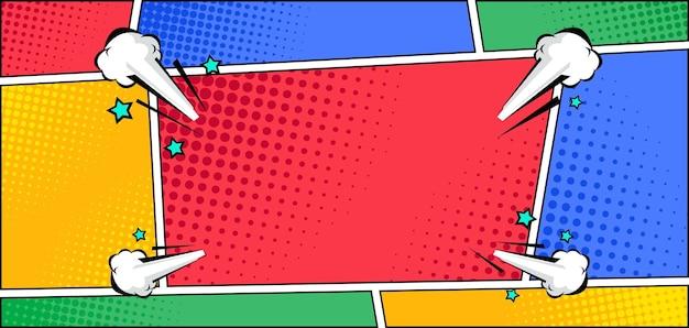 Bunter comic-panel-pop-art-stil-hintergrund