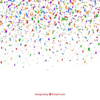 Bunter confettihintergrund in der flachen art