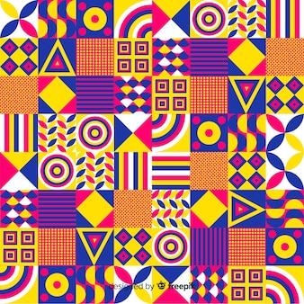 Bunter dekorativer geometrischer mosaikhintergrund