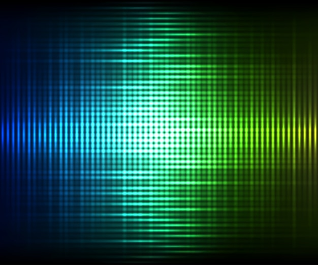 Bunter digitaler glänzender entzerrer. bunter glänzender hintergrund des abstrakten vektors