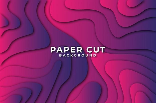 Bunter farbverlauf abstrakter wellenpapierschnittarthintergrund