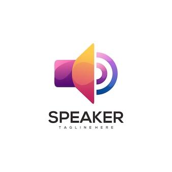 Bunter farbverlauf des fantastischen logo-lautsprechers