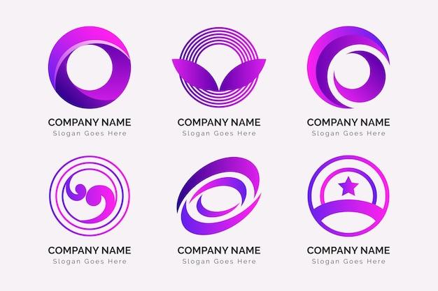 Bunter farbverlauf o logo-sammlung