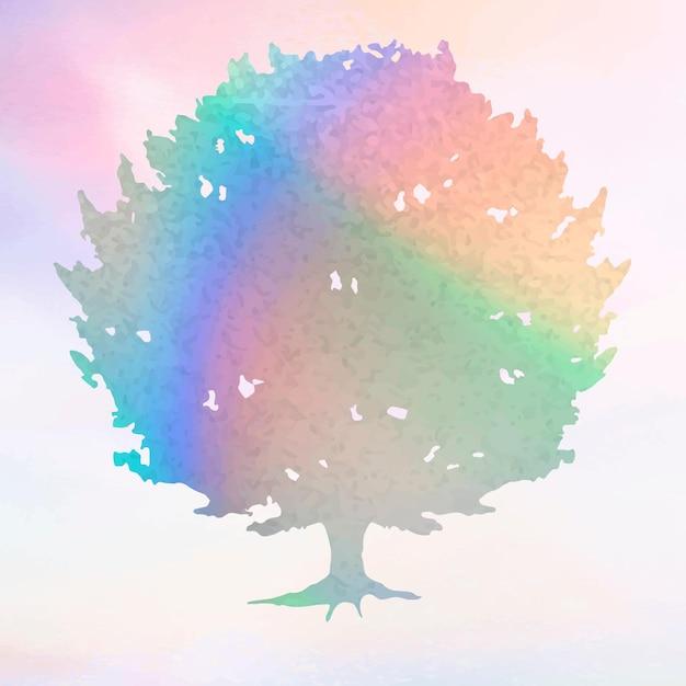 Bunter farbverlaufsbaumelementvektor