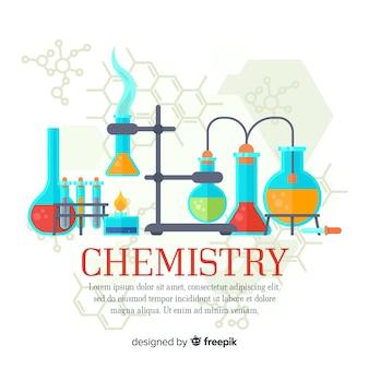 Bunter flacher chemiehintergrund