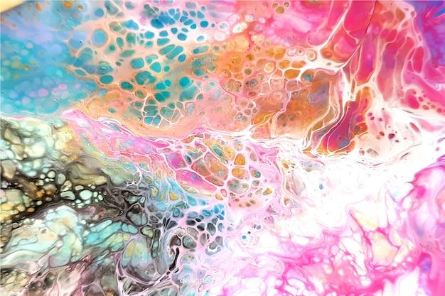 Bunter gemalter marmorbeschaffenheitshintergrund