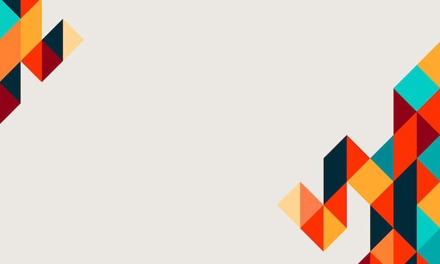 Bunter geometrischer dreieckhintergrund. eine neue textur für ihre website.