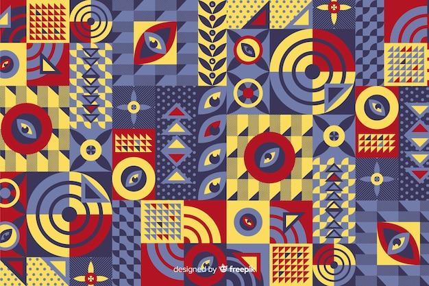 Bunter geometrischer formmosaikhintergrund