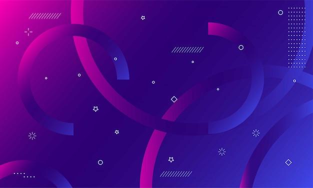 Bunter geometrischer hintergrund. dynamische formkomposition