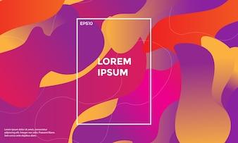 Bunter geometrischer Hintergrund. Flüssige Formen Zusammensetzung. Vektor Eps10