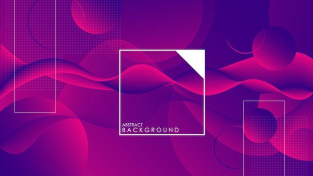 Bunter geometrischer hintergrund. trendy farbverlauf formt komposition.