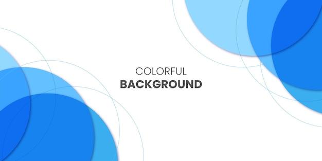 Bunter geschäftshintergrund mit blauem layout