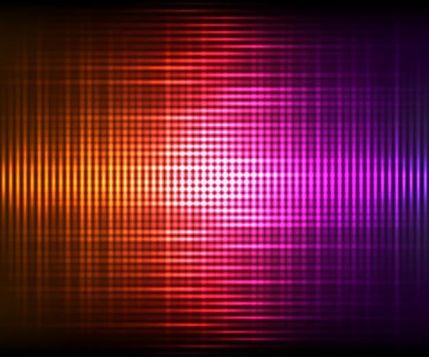 Bunter glänzender hintergrund des abstrakten vektors. vektorabbildung mit lichteffekten auf dunklen hintergrund