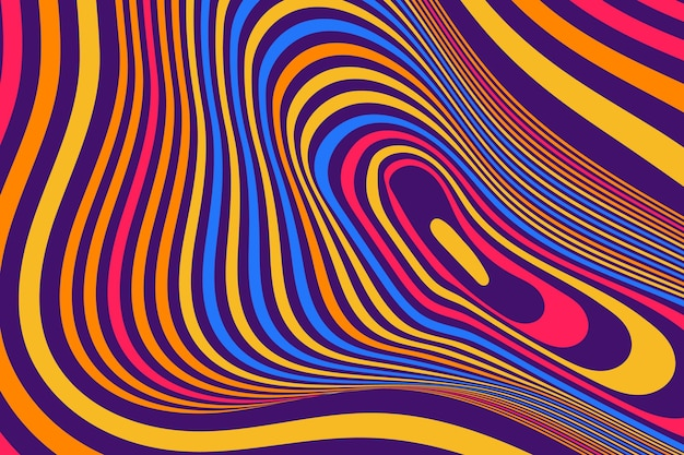 Bunter grooviger psychedelischer hintergrund