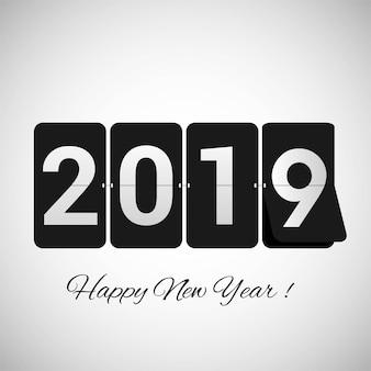 Bunter guten Rutsch ins Neue Jahr-Hintergrundvektor der Feier 2019