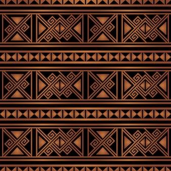 Bunter heller ethnischer nahtloser hintergrund des gestreiften musters in den orange und schwarzen farben