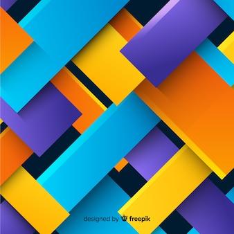 Bunter hintergrund der geometrischen formen 3d