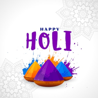 Bunter hintergrund der glücklichen holi-festivalkarte