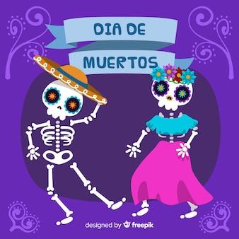 Bunter Hintergrund día de Muertos