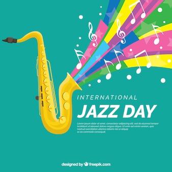 Bunter hintergrund für internationalen jazz-tag