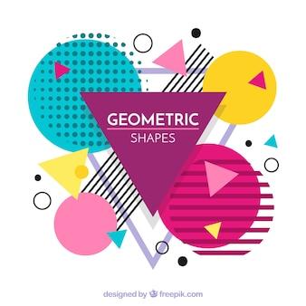 Bunter hintergrund mit geometrischen formen
