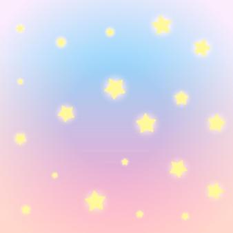 Bunter hintergrund mit leuchtenden sternen