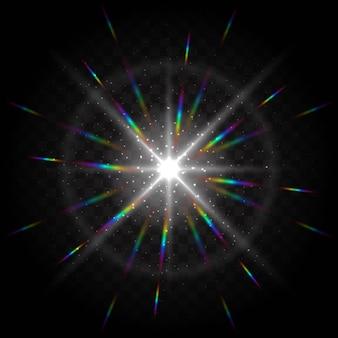 Bunter hintergrund mit lichteffekten