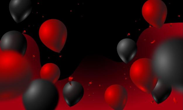 Bunter hintergrund mit luftballons