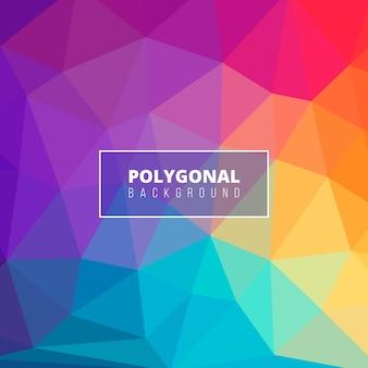 Bunter hintergrund mit polygonalen formen