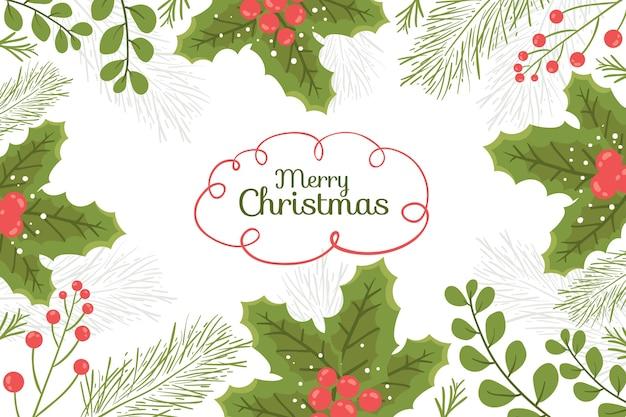 Bunter hintergrund mit weihnachtselementen