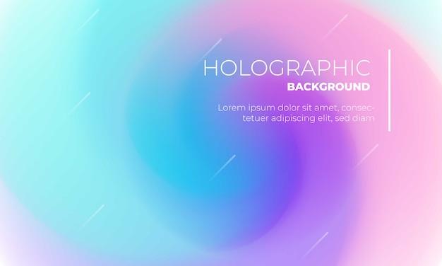 Bunter holographischer hintergrund für abdeckung oder plakat