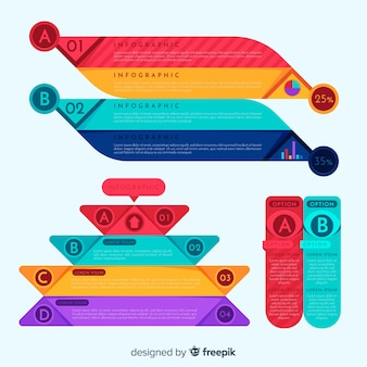 Bunter infographic elementsatz