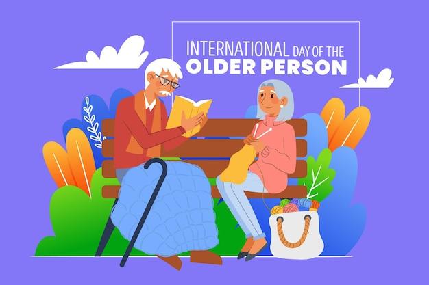 Bunter internationaler tag der älteren menschen