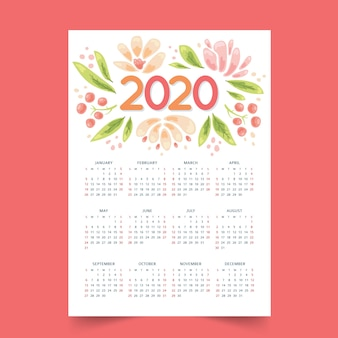 Bunter jahresplankalender 2020