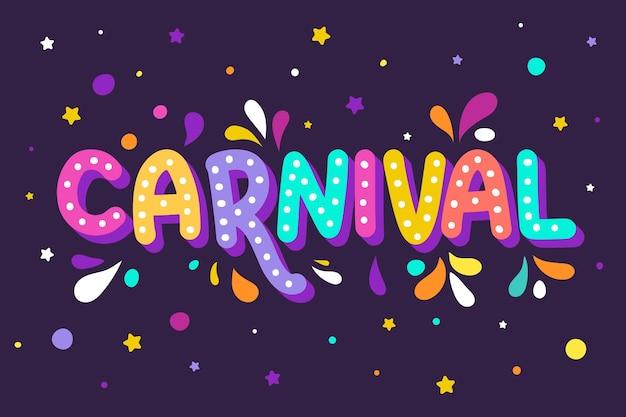 Bunter karneval schriftzug