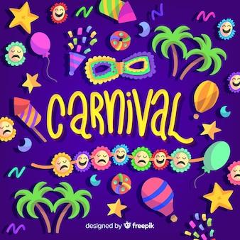 Bunter karnevalshintergrund