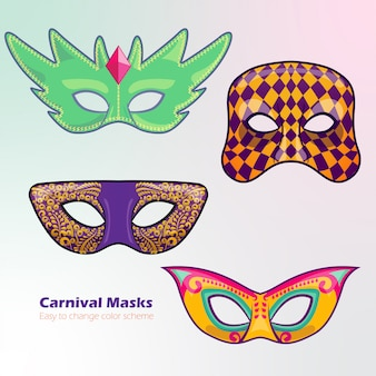 Bunter karnevalsmaskenentwurf
