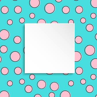 Bunter konfetti-hintergrund der pop-art
