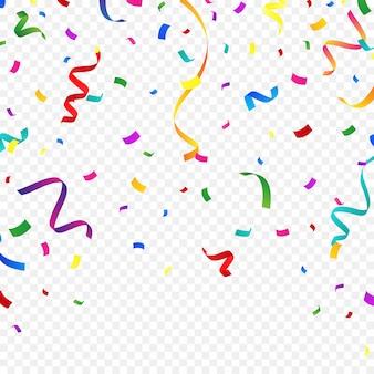 Bunter konfettihintergrund für festliche feiern