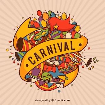 Bunter kreativer karnevalshintergrund