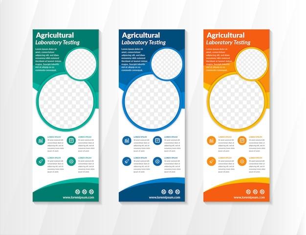Bunter kreis business roll up banner design-vorlage abstrakte geometrische vertikale banner