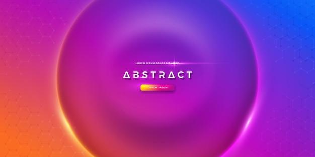 Bunter kreiswellenhintergrund futuristischer vektorhintergrund