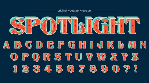 Bunter kundenspezifischer typografieentwurf