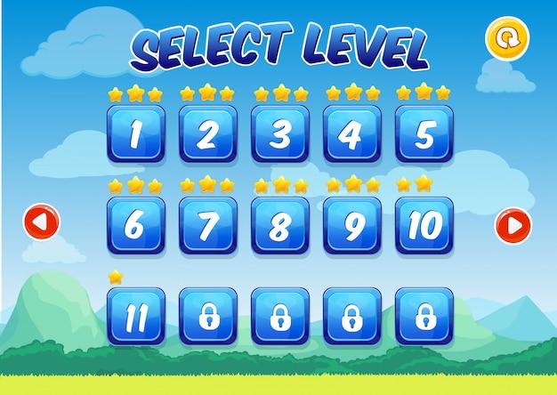 Bunter level-auswahlbildschirm