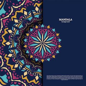 Bunter mandala-designhintergrund des luxusornaments