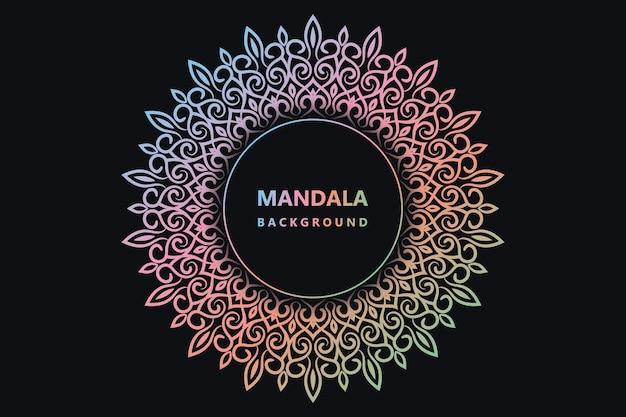 Bunter mandala-hintergrund eps