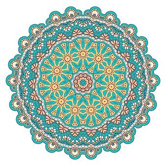 Bunter Mandala-Hintergrund mit Verzierung