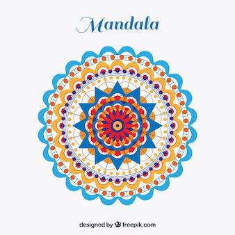 Bunter mandala in der flachen art